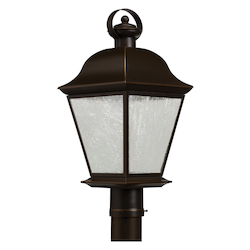Kichler One Light Olde Bronze Post Light
