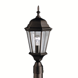 Kichler Kichler 9956Bk Black 1 Light Post Light From The Madison Collection