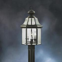 Kichler Three Light Olde Bronze Post Light
