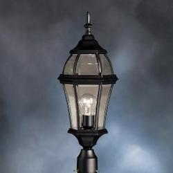 Kichler Black 1 Light Post Light From The Townhouse Collection