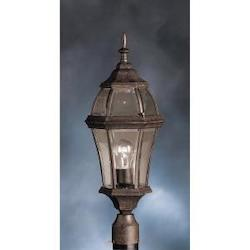 Kichler One Light Tannery Bronze Post Light