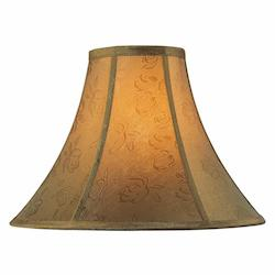Lite Source Inc. Gold Jacquard Height Large Gold Jacquard Bell Shade
