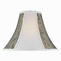Lite Source Inc. Wheat Wheat Jacquard 2 Tone Height Wheat Jacquard Bell Shade