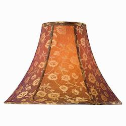 Lite Source Inc. Jacquard - Gold Height Golden Rose Bell Shade