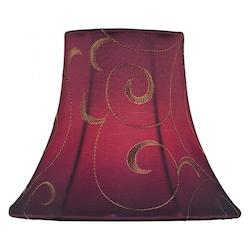 Lite Source Inc. Red Jacquard Height Small Red Jacquard Bell Candelabra Shade