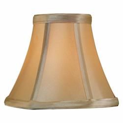 Lite Source Inc. Light Gold Height Small Light Gold Bell Candelabra Shade