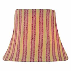 Lite Source Inc. Woven Stripe Red Height Small Red Woven Stripe Bell Candelabra Shade
