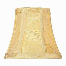 Lite Source Inc. Jacquard - Gold Height Small Gold Jacquard Bell Candelabra Shade