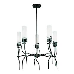 Lite Source Inc. Bronze 5 Light Ceiling Lamp Dark Bronze Frost Glass