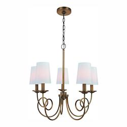 Lite Source Inc. Bronze Erika 5 Light 1 Tier Chandelier