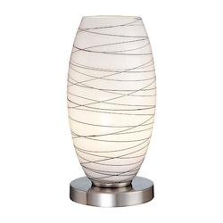 Lite Source Inc. Steel 1 Light Table Lamp With Glass Shade From The Giacomo Collection