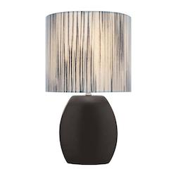 Lite Source Inc. Open Box Black Ceramic Table Lamp From The Reiko Collection
