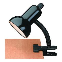 Lite Source Inc. Gooseneck Clip On Lite Black E27 Cfl 13W