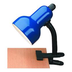Lite Source Inc. Gooseneck Clip On Lite Blue E27 Cfl 13W