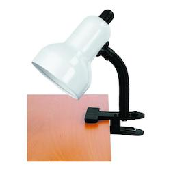 Lite Source Inc. Gooseneck Clip On Lite White E27 Cfl 13W
