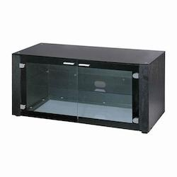 Lite Source Inc. Black 3 Tier Tv Stand From The Davis Collection