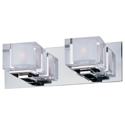 Maxim Two Light Polished Chrome Clear Glass Vanity