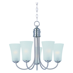 Maxim Satin Nickel Frosted Glass Up Chandelier