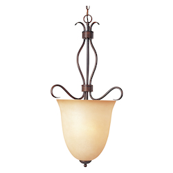 Maxim Four Light Oil Rubbed Bronze Wilshire Glass Foyer Hall Pendant