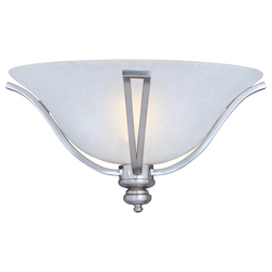 Maxim One Light Ice Glass Satin Silver Wall Light