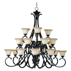 Maxim Twenty Light Oil Rubbed Bronze Wilshire Glass Up Chandelier
