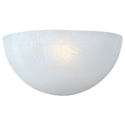 Maxim One Light White Marble Glass Wall Light