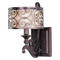 Maxim One Light Umber Bronze Wall Light