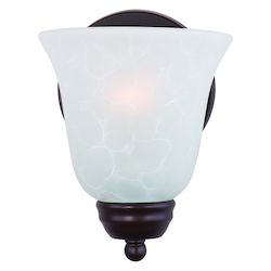 Maxim One Light Oil Rubbed Bronze Ice Glass Bathroom Sconce