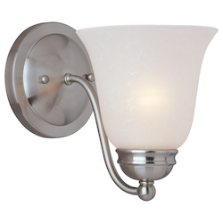 Maxim One Light Satin Nickel Ice Glass Wall Light