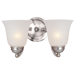 Maxim Two Light Satin Nickel Ice Glass Wall Light