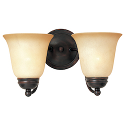 Maxim Two Light Oil Rubbed Bronze Wilshire Glass Wall Light