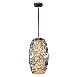 Maxim Two Light Dusty White Glass Umber Bronze Down Pendant
