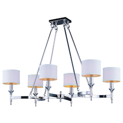 Maxim Six Light Polished Nickel Up Chandelier