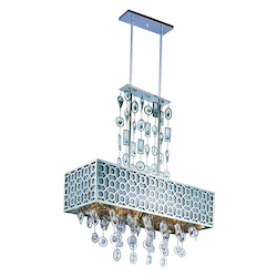 Maxim Eight Light Polished Nickel Down Pendant