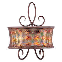 Maxim Two Light Umber Bronze Wall Light