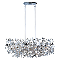 Maxim Seven Light Polished Chrome Beveled Crystal Glass Island Light