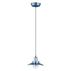 Maxim One Light Polished Nickel Down Pendant