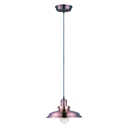 Maxim One Light Antique Copper Down Pendant
