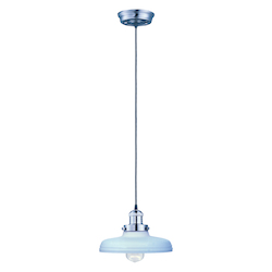 Maxim One Light Satin Nickel Satin White Glass Down Pendant