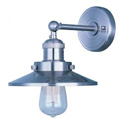 Maxim One Light Satin Nickel Wall Light
