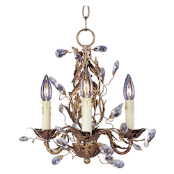 Maxim Three Light Etruscan Gold Up Mini Chandelier