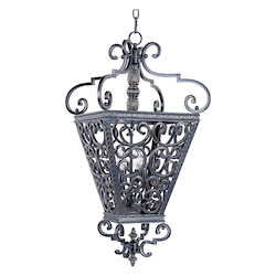 Maxim Four Light Kentucky Bronze Open Frame Foyer Hall Fixture
