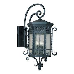 Maxim Five Light Country Forge Seedy Glass Wall Lantern