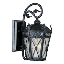 Maxim One Light Artesian Bronze Seedy Glass Wall Lantern