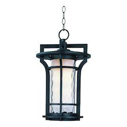 Maxim One Light Water Glass Glass Black Oxide Hanging Lantern