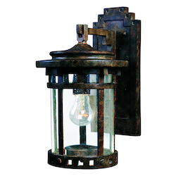 Maxim One Light Sienna Seedy Glass Wall Lantern