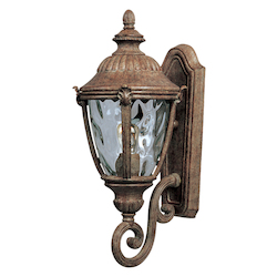 Maxim One Light Earth Tone Water Glass Glass Wall Lantern
