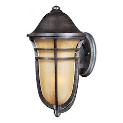 Maxim One Light Artesian Bronze Mocha Cloud Glass Wall Lantern