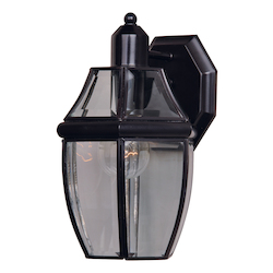 Maxim One Light Burnished Clear Glass Wall Lantern