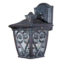 Maxim One Light Oriental Bronze Seedy Glass Wall Lantern